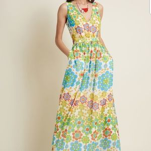 NWOT MODCLOTH MUSTER THE LENGTH MAXI DRESS 4X